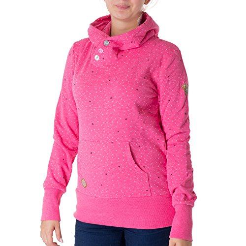 Ragwear Chelsea Hearts Hoody Damen Sweatshirt Pullover Pink Melange S