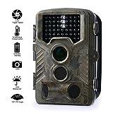 Wildkamera Fivanus 12MP 1080P HD Jagd Trail Kamera 120°Grad Weitwinkel Wildlife Kamera Infrarote 25m Nachtsicht Wasserdichte Überwachungskamera mit 46 PC IR LEDs  ideal für Wildbeobachtung, Spiel, zur Überwachung und zum Auskundschaften