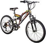 F.lli Schiano Rider Full Suspension Shimano Vélo Homme, Noir/Rouge, Taille 20'