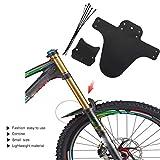 Sisit MTB Fahrradschutzblech, Reifenschutzblech für Fahrradstoßdämpfer und Mountainbikes (Schwarz)
