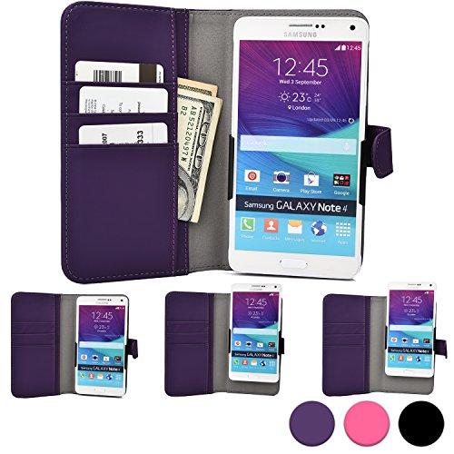 Yezz Andy 5.5EI/5EI/5T/A5/A5QP/C5ML/C5QL/C5V/C5VP Étui pour téléphone, COOPER SLIDER Étui coque protection portefeuille pour téléphone mobile portable avec appareil photo ouvert et porte-carte de crédit (Violet)