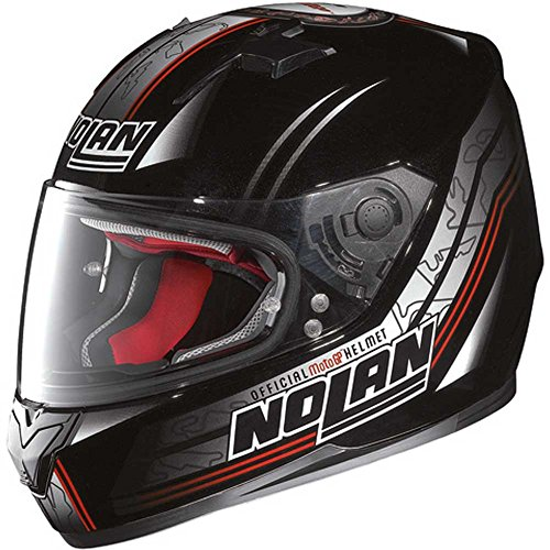 Nolan N64Moto GP Casco Integral–Metal Negro Tamaño XL