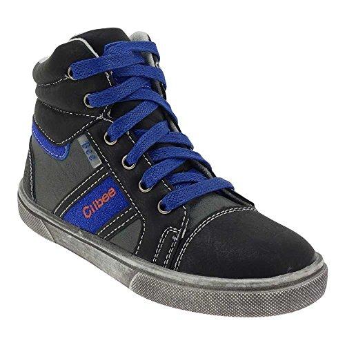 GALLUX - Kinder hohe Sneaker super coole Schuhe Schwarz