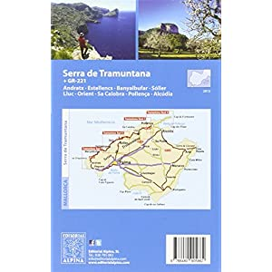 Serra de Tramuntana, mapas excursionistas impermeables. 4 mapas. Escala 1:25.000. Español, Català, English, French, Deutsch. Alpina Editorial. (Wate