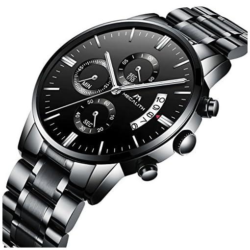 67966b3d1fd6 Relojes Hombre Acero Inoxidable Reloj de Pulsera de Lujo Moda ...