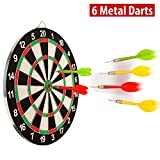 #7: Farraige 17 Inch Double Faced Flock Printing Thickening Family Game Dart Board With Free 6 Needle (17 Inch)