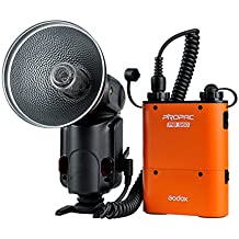 Godox AD-360 – Kit flash portátil Witstro + Batería PB960), color naranja