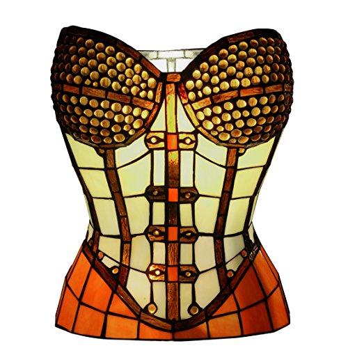 Arte Dal Mondo Tischlampe Korsett glas im tiffany-stil handwerk (Korsetts Erwachsenen)