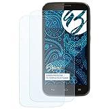 Bruni Schutzfolie kompatibel mit Vodafone Smart 4 Power Folie, glasklare Bildschirmschutzfolie (2X)