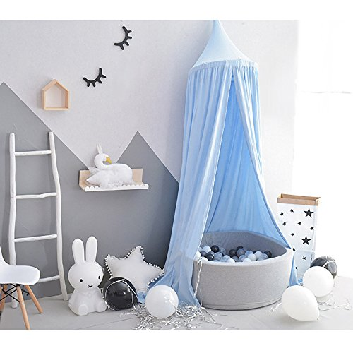 Wonder Space Prinzessin Baldachin, 240cm Bett Kuppel Betthimmel Moskitonetz aus Baumwolle, Insektenschutz Bettvorhang Zelt fürs Innen Schlafzimmer Dekoration Baby Kinder Kinderzimme, - Möbel Baldachin Schlafzimmer