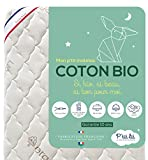 P'TIT LIT - Matelas Bébé Coton Bio - 70x140 cm - 100% Coton : matière Naturelle...