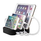 Ladestation, MixMart 3 Ports Ladestation Desk Organizer Ladedock für Smartphone & Tablet und mehre USB-Geräte