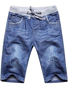 huateng Jeans elásticos de los niños pantalones vaqueros del verano pantalones ajustables pantalones cortos Jeans...