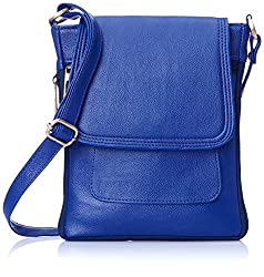 Deal Especial Royal blue fancy mini girls sling bag for collage & outing use & gift