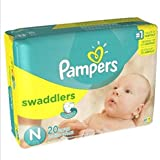 Pampers Comfort And Security Soft Stretchy Sides And Extra Padding Swaddlers Diapers 240 Count (12 Packs Of 20)