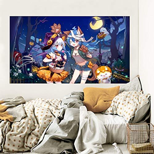 oween Girl 040 Japan Anime Wandaufkleber Vinyl Wandbilder Druck Kunst | Selbstklebend Große Wandaufkleber DE Wendy (Vinyl(KeinKleber&abnehmbar), 【19.7