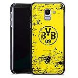 DeinDesign Hülle Case Handyhülle kompatibel mit Samsung Galaxy J6 2018 Borussia Dortmund BVB Fanartikel