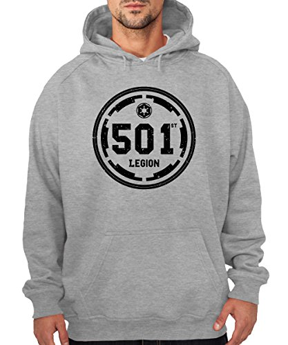 clothinx - 501st Legion - Boys Kapuzenpullover Sports Grey, Größe XL