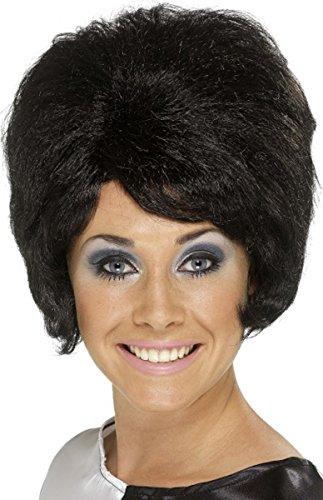 1960er Groovy Fancy Kleid Party Beehive Perücke Damen kurzer Schnitt mit Kopfbedeckungen sortiert Gr. Einheitsgröße, schwarz (Boxen Kostüm Ebay)