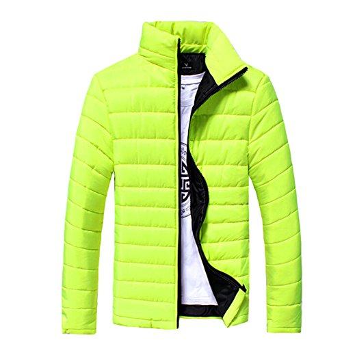 Zrong Herren Winter Jacke Casual Gefüttert Mantel Reißverschluss Slim Fit Warm Quilted Oberbekleidung Grün