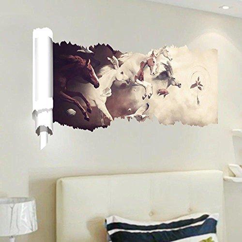 Preisvergleich Produktbild 3D Papier brechen kreativen Wandbild Wandsticker Zimmer Wohnzimmer,  um die Badezimmer 3D-Perspektive Wand Aufkleber herausnehmbare PVC Tapeten Grafik Wandtattoo 58 * 120cm