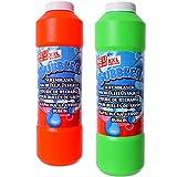 TE-Trend 2 Stück Seifenblasen Lösung Seife Seifenblasenflüssigkeit Nachfüllflasche Bubble Soap...