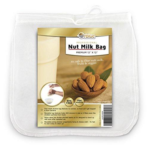 ORBLUE Bolsa colador leche almendra malla fina