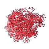 STOBOK Paillettes di coriandoli a Forma di Cuore Glitterati per la Decorazione da tavola 3000pcs del Partito