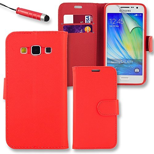 connect-zoner-samsung-galaxy-j5-2016-red-premium-pu-leather-flip-wallet-case-cover-pouch-screen-prot