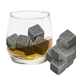 Grenhaven 9er SET Whisky-Steine Grau aus natürlichem Speckstein-