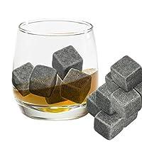 Set da 9 pietre da whisky, accessorio per amanti del whisky Perfetto come alternativa al ghiaccio da aggiungere al tuo bicchiere di whisky con comoda sacca in stoffa per riporre l'articolo. Gli angoli arrotondati non graffiano il bicchiere. O...