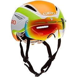 Giro adultos de la bicicleta casco aire ataque escudo 16, todo el año, unisex, color Varios colores - White/Lime/Flame, tamaño small