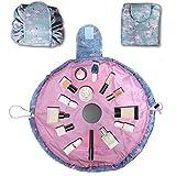 Blueshare Pigro Beauty Case Portatile Per Trucchi, Beauty Case da Viaggio Sacchetto di Cosmetici per donne e ragazze (Fenicottero)