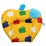 #7: Gurukripa New Born Baby Cotton Soft Fabric Musterd Seeds Rai Pillow For Baby Head Shaping Apple U Shape Takiya Detachable Mustard / Rai Seed Pouch For Easy Washing Feeding & Nursing Baby Neck Pillow (Yellow)