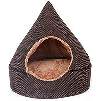 STAZSX Caseta de perro extraíble Yurt Caseta de peluche Teddy Small Dog Cat Cat litter Cerrado
