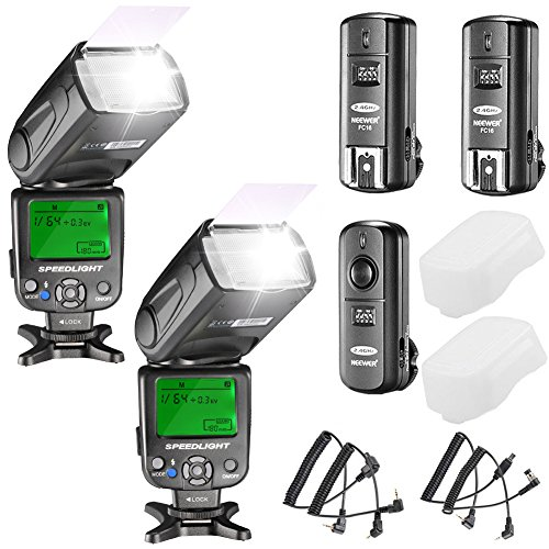 Neewer Kit di NW620 Flash Manuale Speedlite per Canon Nikon Panasonic Olympus Pentax e Altre Reflex Digitali Inclusi Flash NW620 GN58 Diffusore Duro
