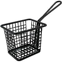 Olympia CL472 Mini cuadrado cesta de la freidora, color negro