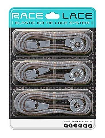 No Label Race Lace - Elastische Sport Schnürsenkel Mit Schnellverschluss + Schnellschnürsystem | Komfort, Halt + Zeit Sparen mit Profischnürsenkel für Sportschuhe | Ideal Für Kinder & Erwachsene 3 x (Clip Navy Tie Clip)