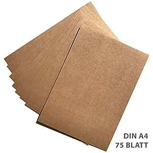 75 feuilles papier kraft papier kraft din a4 280 g m. Black Bedroom Furniture Sets. Home Design Ideas