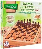 Legnoland 37323 Giochi in Legno Dama Scacchi Filetto, 30x30x4 cm