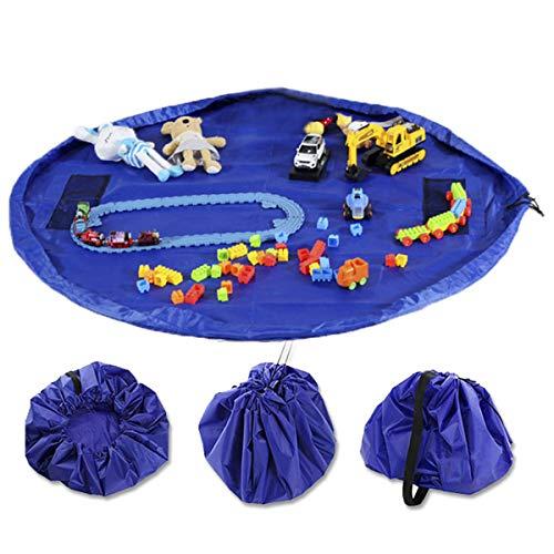 Dooppa Kinderspielzeug-Organizer Aufbewahrungstasche & Spielmatte, große Spielzeugtasche, Kinder-Teppich, tragbar, Kinderspielzeug, Organizer mit Kordelzug zum Öffnen und Schließen einfach 152,4 cm - Lincoln-puppe