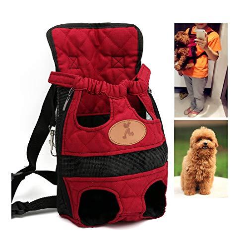 GLZKA Pet Carrier Rucksack einstellbar sicher tragbar doppel Schulter Katze Hund vordere Brust Taschen aus hände frei für Reisen wandern Camping,L - Loop-seitenteile