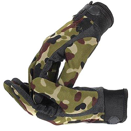 guanti caccia Hengsong Campeggio All aperto Military Tattico Guanti Sport Guanti Caccia Equitazione Gioco Guanti Pieni della Barretta (Camuffamento