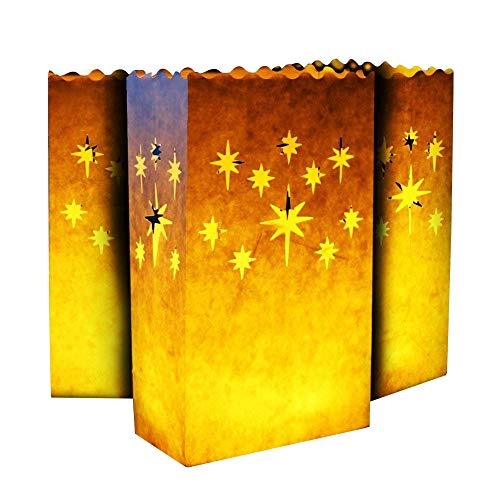 Aookey Candle Luminary Bags, 20 pc Borse per Illuminazione a Candela, Cotone Ignifugo...