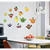 Sticker Studio Fruits'Wall Sticker & Decal (PVC Vinyl,Surface Covering Area - 58 X 40 Cm)