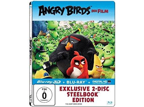 Angry Birds - Der Film (Exklusives Steelbook mit 3D-Lentikularkarte - 3D+2D Blu-ray) - (Blu-ray) Angry Birds-der Film