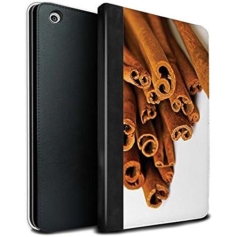 STUFF4 PU Pelle Custodia/Cover/Caso Libro per Apple iPad Mini 1/2/3 tablet / Bastoncini Cannella/Quills / Cibo di Natale disegno