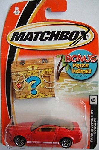MATCHBOX BONUS PRIZE INSIDE FORD MUSTANG GT CONCEPT #6 RED. by Matchbox