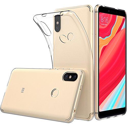 Peakally Xiaomi Redmi S2 Hülle, Soft Silikon Dünn Transparent Hüllen [Kratzfest] [Anti Slip] Durchsichtige TPU Schutzhülle Case Weiche Handyhülle für Xiaomi Redmi S2 -Klar/Transparente
