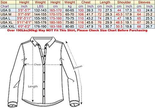 jeansian Herren Freizeit Hemden Shirt Tops Mode Langarmshirts Slim Fit 8371 0777_WineRed